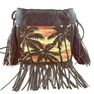 YSL Saint Laurent Helena Fringed bag/tote